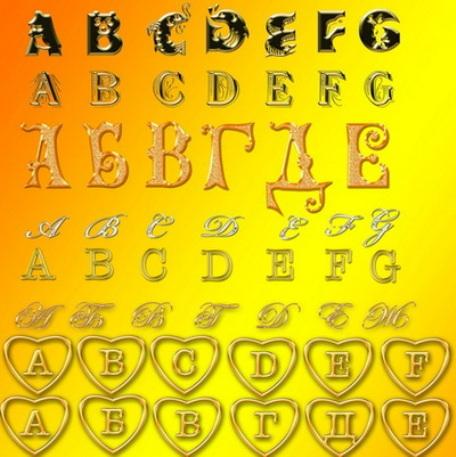 Шрифты для фотошопа золотые шрифты